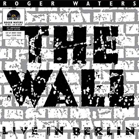"WATERS, ROGER : "" ROGER WATERS THE WALL LIVE  IN BERLIN "" - RSD SEPTEMBER 26TH 2020 (2020) 2LP CLEAR VINYL"