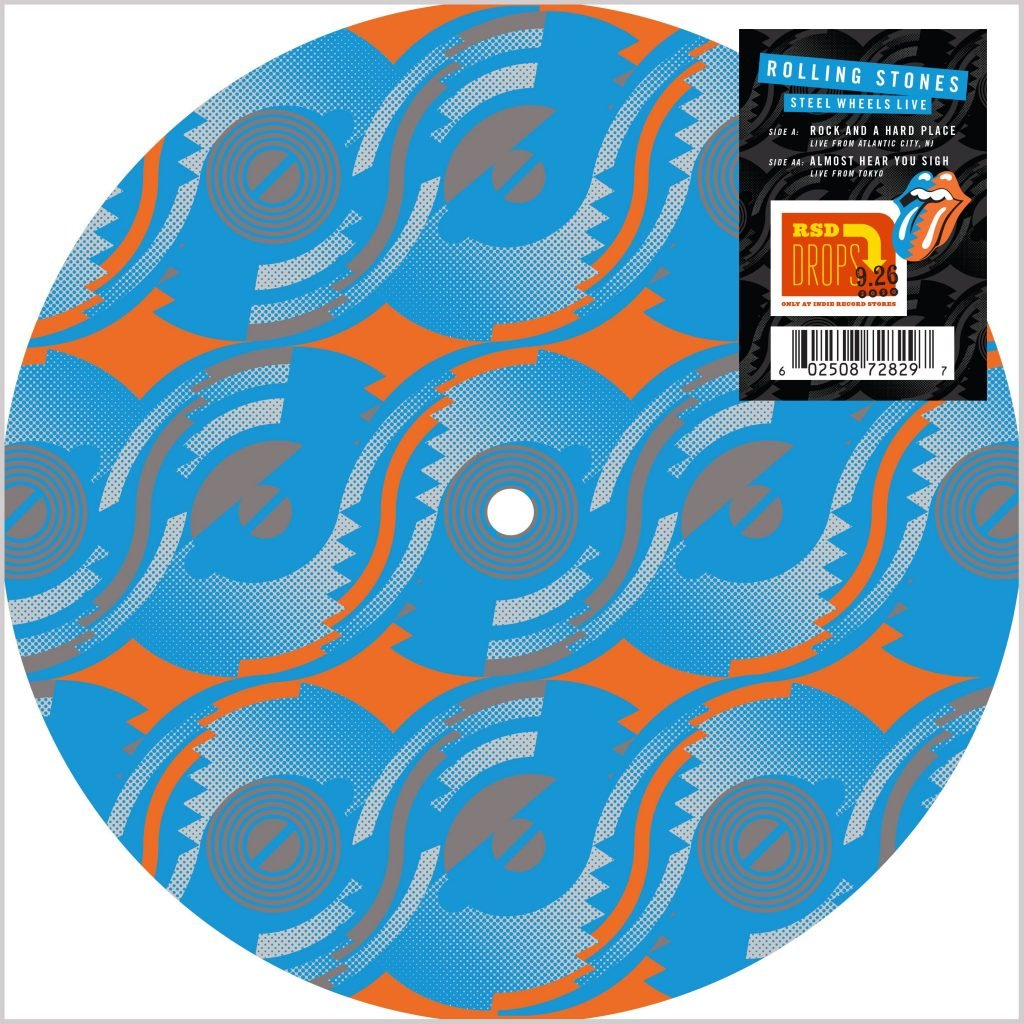 "ROLLING STONES, THE : "" STEEL WHEELS LIVE "" - RSD SEPTEMBER 26TH 2020 (2020) 10 INCH PICTURE DISC"