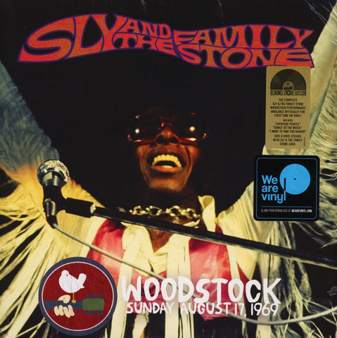 SLY & THE FAMILY STONE : WOODSTOCK SUNDAY AUGUST 17 1969 (2019) 2LP LIMITED EDITION WITH SIDE 4 SLY LOGO ETCHING