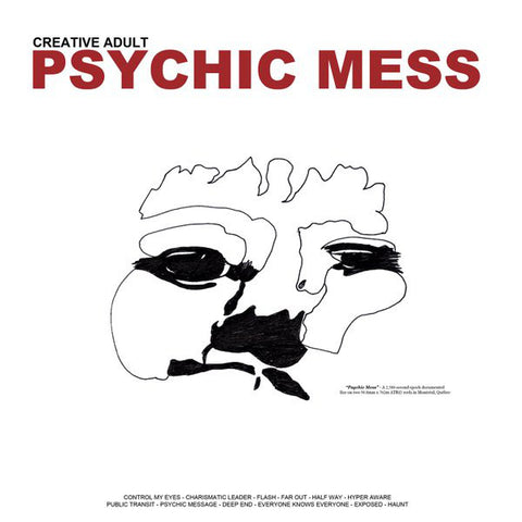 "CREATIVE ADULT : "" PSYCHIC MESS (  LP GATEFOLD SLEEVE ) "" (2014) USED LP ( NEAR MINT / VERY GOOD PLUS ) ( RACK L .30 )"