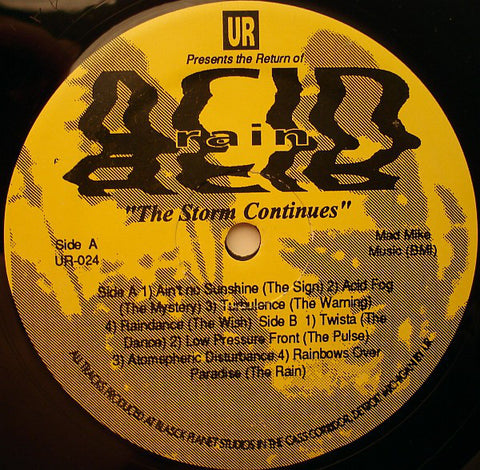 "UNDERGROUND RESISTANCE : "" ACID RAIN - THE SAGA CONTINUES "" (1993) LP ( NEAR MINT )"