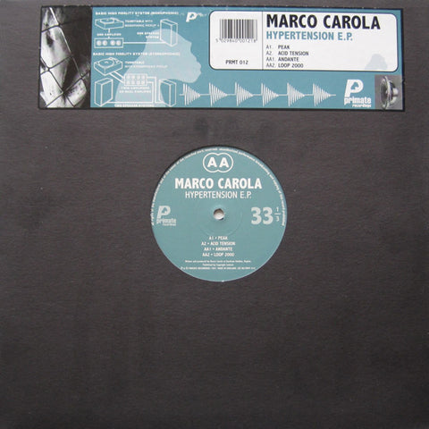 "CAROLA , MARCO : "" HYPERTENSION E.P "" (1997) LP ( NEAR MINT ) LOOKS UNPLAYED"