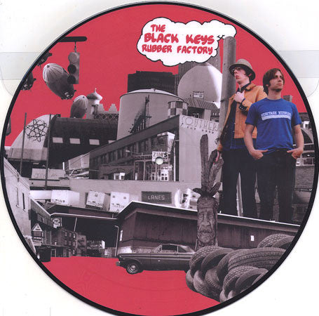 "BLACK KEYS , THE : "" RUBBER FACTORY "" (2011) USED PICTURE DISC LP ( NEAR MINT ) LOOKS UNPLAYED"