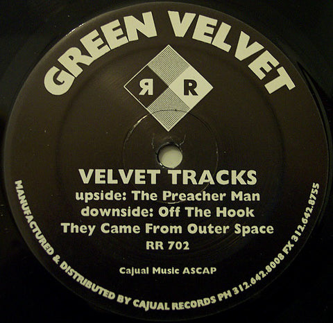 "GREEN VELVET : "" VELVET TRACKS "" (1994) 12INCH ( NEAR MINT ) LOOKS UNPLAYED"