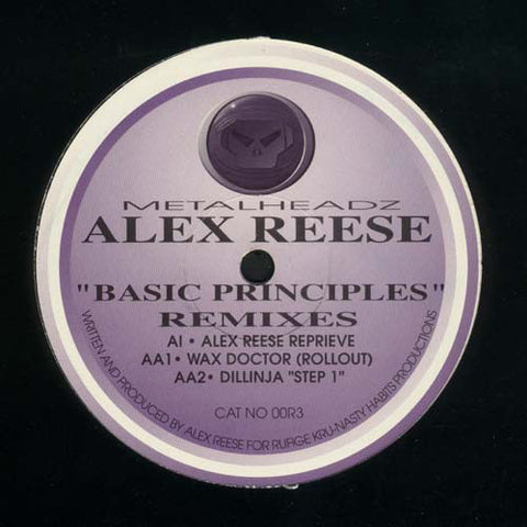 "REESE , ALEX : "" BASIC PRINCIPLES REMIXES "" (1995) 12INCH ( NEAR MINT ) METALHEADZ RECORDS"