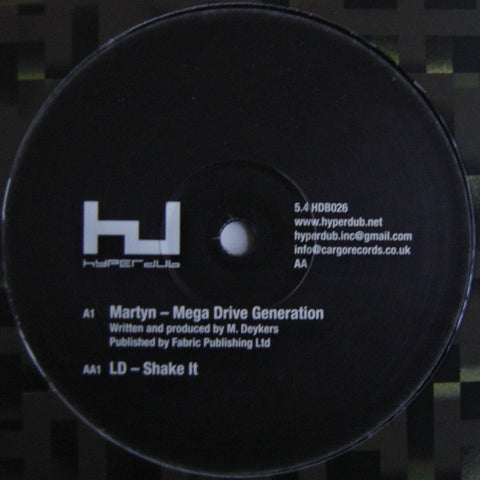 "MARTYN / LD : "" MEGA DRIVE GENERATION / SHAKE IT "" (2009) 12INCH ( NEAR MINT ) HYPERDUB RECORDS / DUBSTEP"