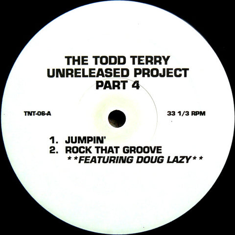 "TERRY , TODD : "" UNRELEASED PROJECT PART 4 "" (1993) 12INCH ( NEAR MINT )"
