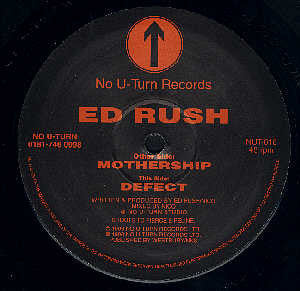 "ED RUSH : "" MOTHERSHIP / DEFECT  ""  (1996) 12 INCH ( NEAR MINT ) JUNGLE"