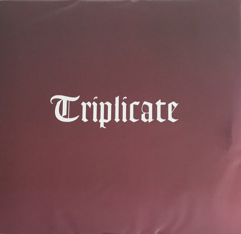 "DYLAN , BOB : "" TRIPLICATE "" (2017) 3LP NEAR MINT"