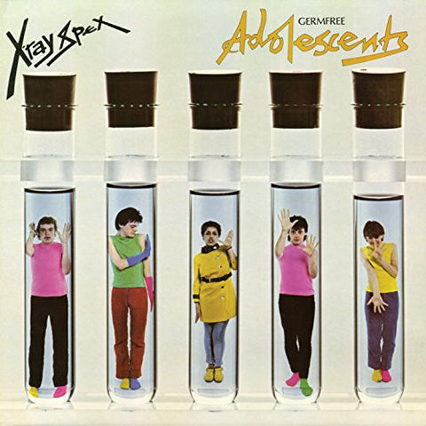X-RAY SPEX : GERMFREE ADOLESCENTS (1978) LP 2016 CLEAR X-RAY VINYL