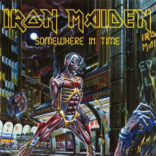 IRON MAIDEN : SOMEWHERE IN TIME (1986) LP 2014 REISSUE