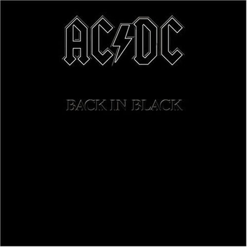 AC/DC : BACK IN BLACK (1980) LP 2009 REMASTERED REISSUE 180 VINYL