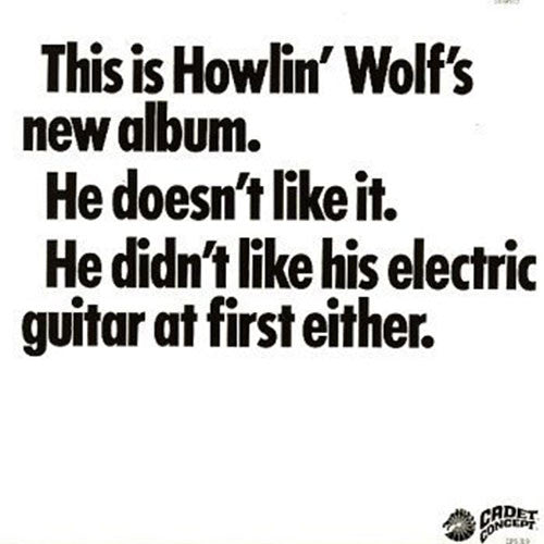 HOWLIN' WOLF : THE HOWLIN' WOLF ALBUM (2011) LP LIMITED RE ISSUE OF 1969 RELEASE