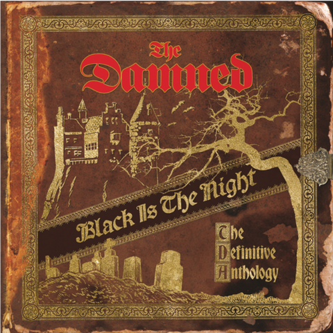 DAMNED, THE: BLACK  IS THE NIGHT (THE DEFINITIVE ANTHOLOGY) (2019) CD & 4LP LIMITED ALL GOLD COLOR VINYL
