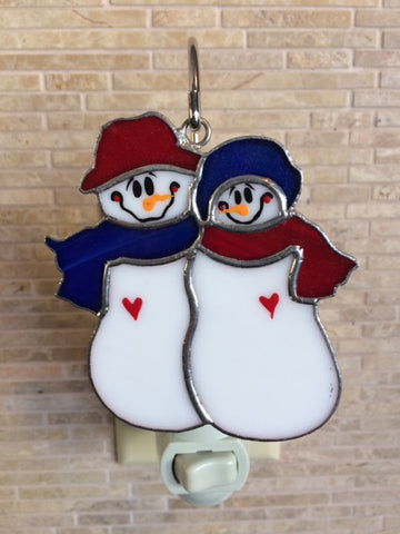 Glass Cover- Snow Couple