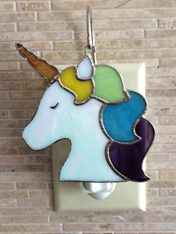 Glass Cover- Unicorn (with Green Hair)