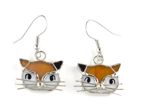 Jewelry- Calico Cat Earring