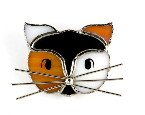 Jewelry- Calico Cat Face Pin