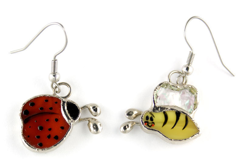 Jewelry- Ladybug and Bee Earrings