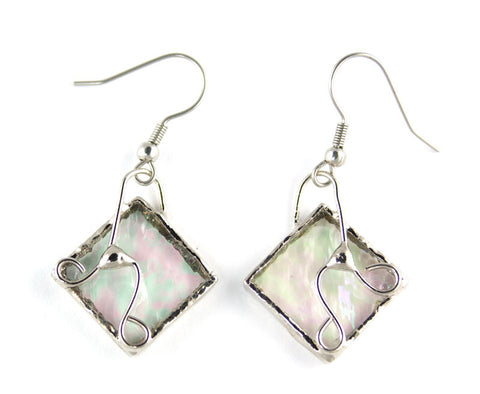 Jewelry- Clear Iridized Wire Earrings