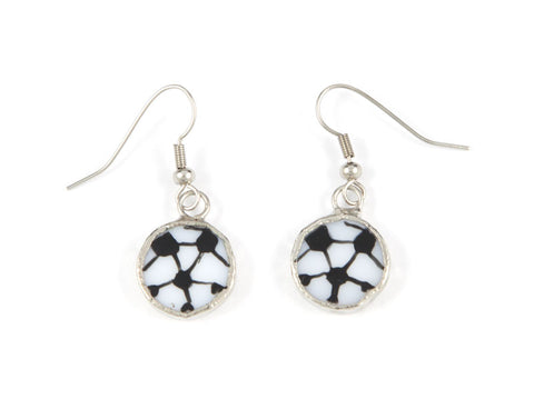 Jewelry- Soccer Ball Earrings