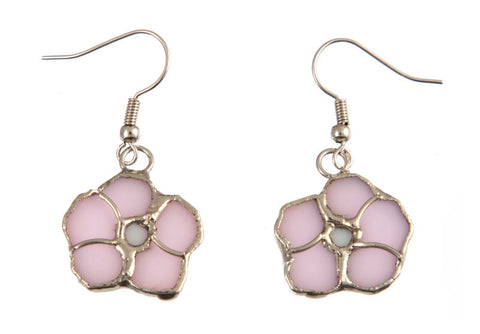 Jewelry- 'Pink Flower Earrings'