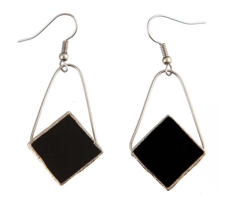 Jewelry- Diamond Earrings, Black