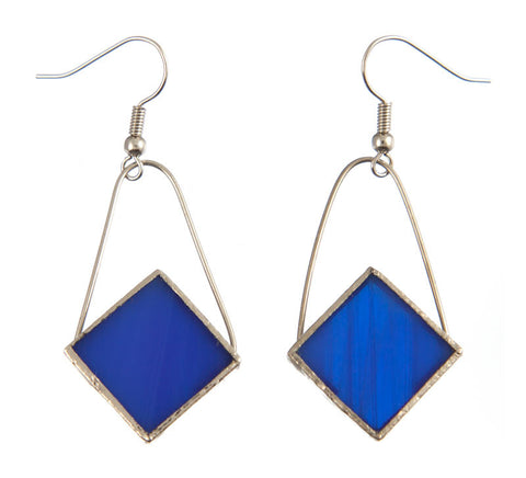 Jewelry- Diamond Earrings, Blue