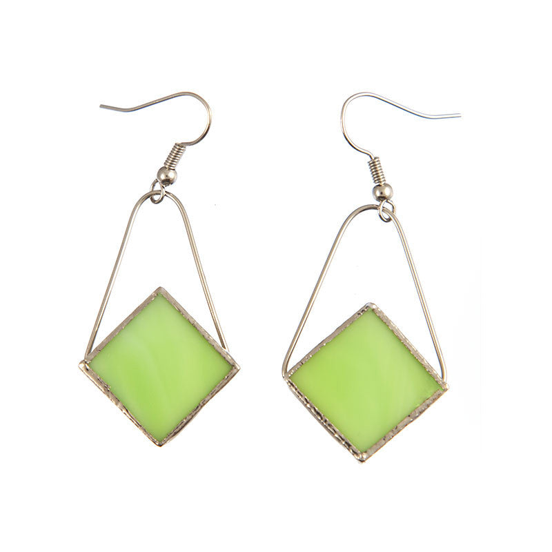 Jewelry- Diamond Earrings, Lime Green