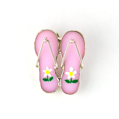 Jewelry- Flip Flop Pin, Pink