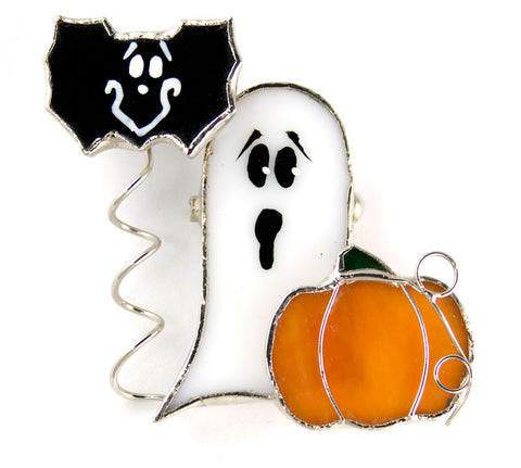 Jewelry- Pumpkin, Ghost and Bat Pin