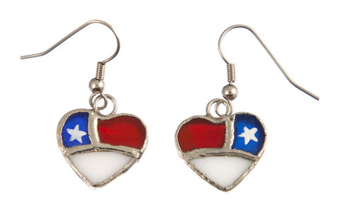 Jewelry- Patriotic Heart Earrings