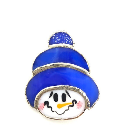 Jewelry- 'Snowman' in Blue Hat Pin