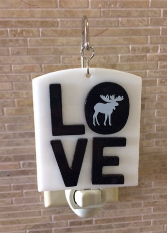 Glass Cover- Love Moose