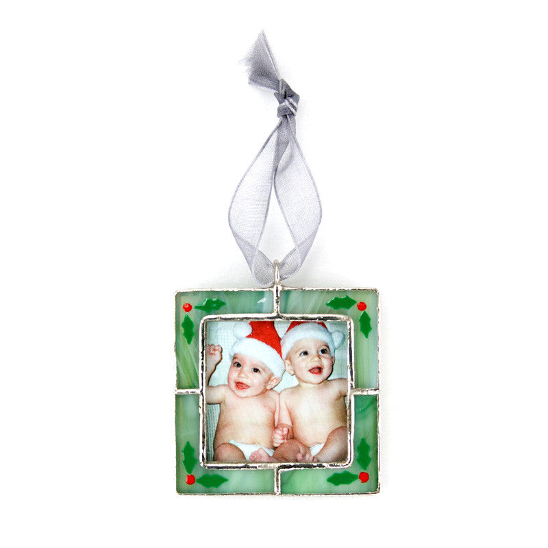 Swittle- Holly Frame (insert photo) Ornament