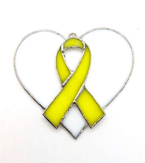 Glass Cover- Awareness Ribbons (Yellow/Teal/Purple/Blue)