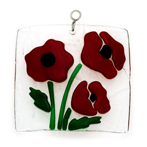 Glass Cover- Poppies