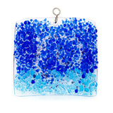 Glass Cover- Blue Ocean Swirl