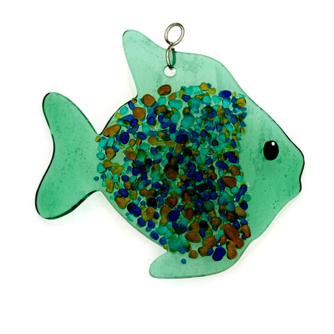 Glass Cover- Fish (Green)