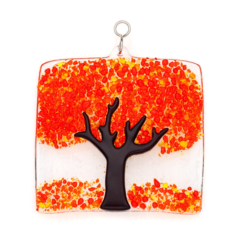 Glass Cover- Fall Tree