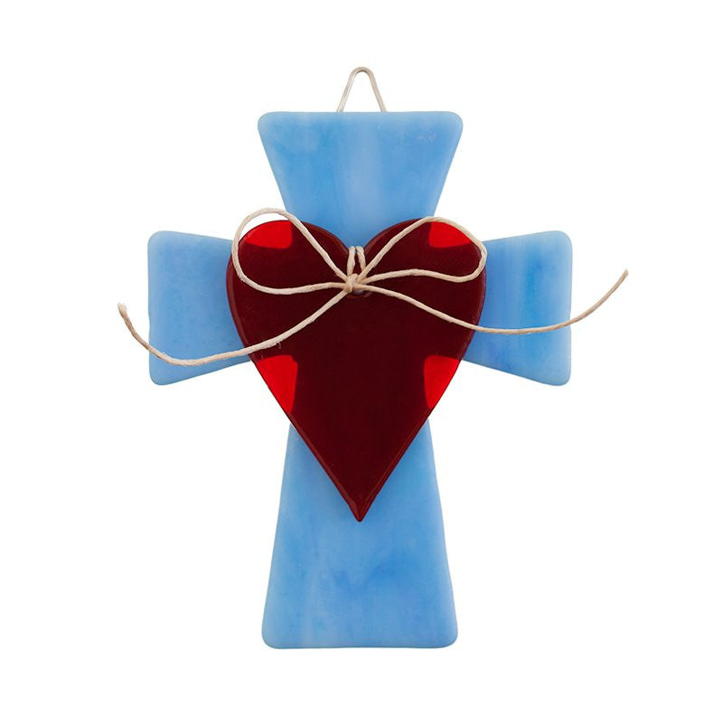 Glass Cover- Cross with Heart