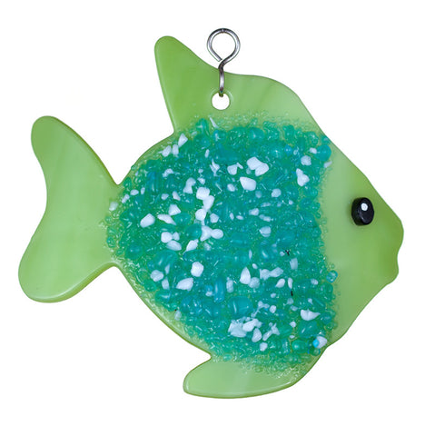Glass Cover- Coastal Fish (Bright Green) - Avail Mid August