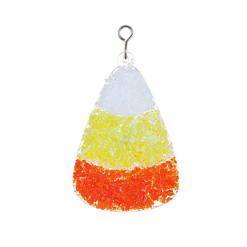 Glass Cover- Candy Corn