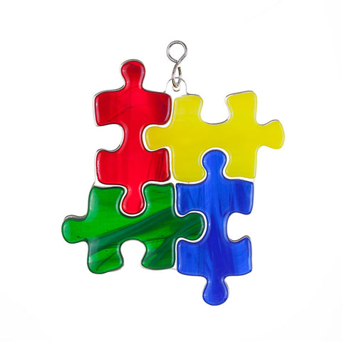 Glass Cover- Autism Awareness Puzzle