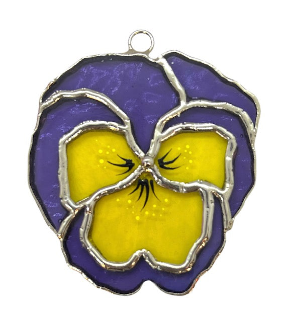 Glass Cover- Pansy Flower