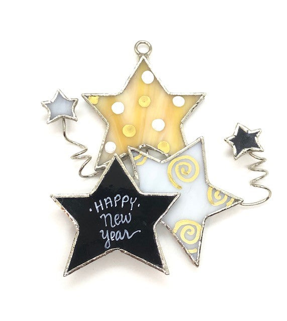 Glass Cover- New Years Stars