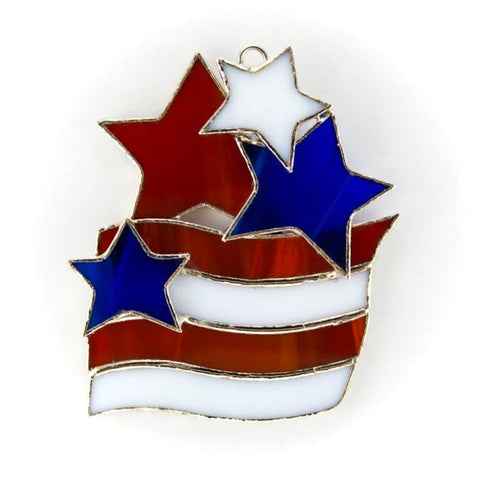 Glass Cover- Flag with Stars