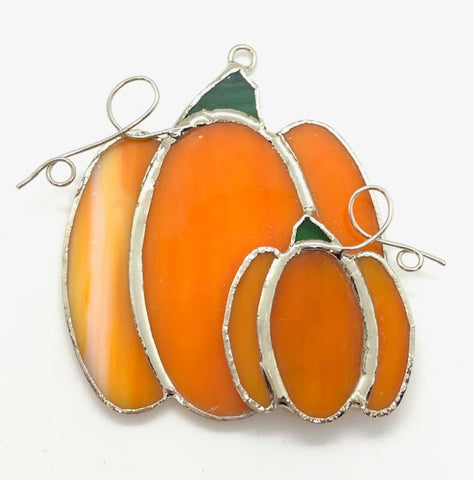 Glass Cover- Double Pumpkin (Discolored)