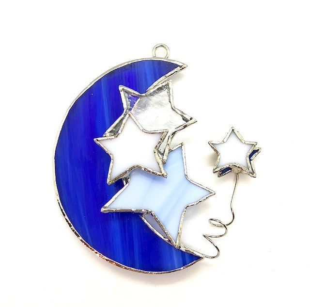 Glass Cover- Celestial Moon and Stars