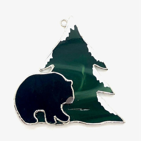 Glass Cover- Bear (Divoted/Discolored)